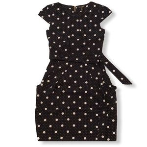 NWOT polka dot belted dress with pockets